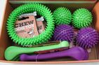 PUPPY DOG CHEW TOY ASSORTMENT X 12 (4  BONES, 4  SPIKY BALLS AND 4 SPIKY RING)